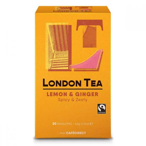London Tea Company Lemon and Ginger Tea Bags (40g) SINGLE