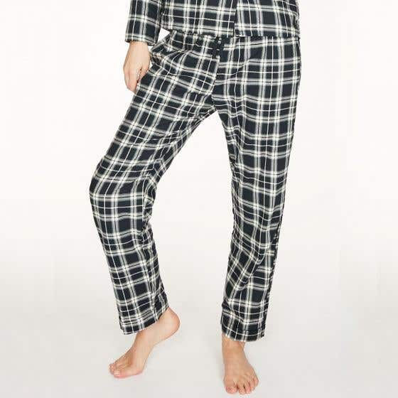 Thought 100% Organic Cotton Check Pyjama Navy Bottoms - Extra Large