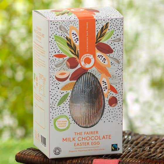 Traidcraft Organic Milk Chocolate Hazelnut Easter Egg (240g)