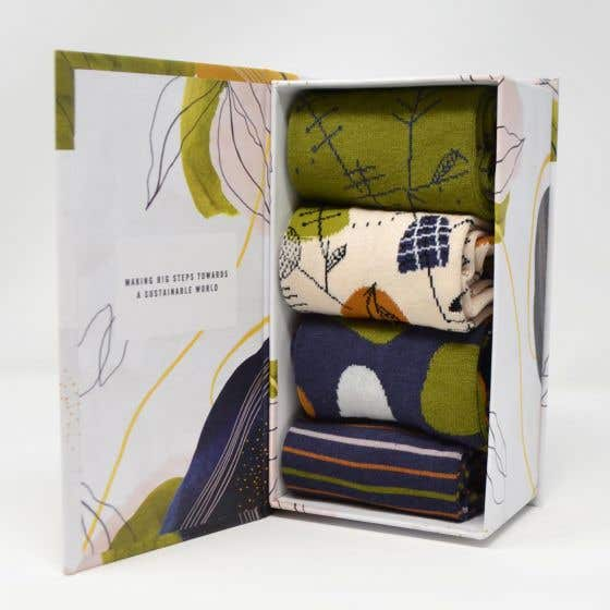 Thought Women's Wildwood Bamboo Blend Multi Sock Gift Pack