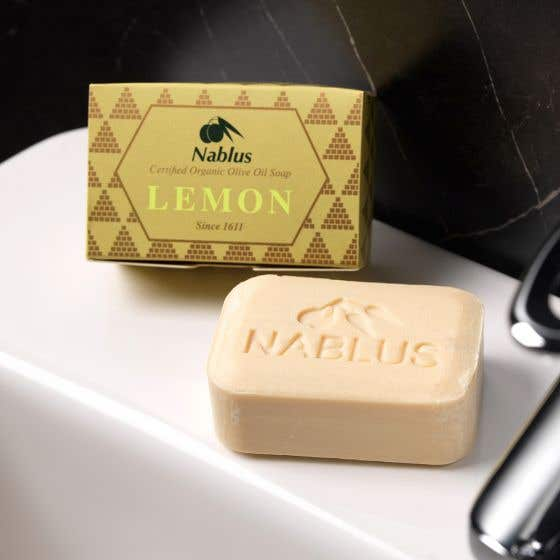 Nablus Natural Olive Oil Soap with Lemon (24x100g) CASE