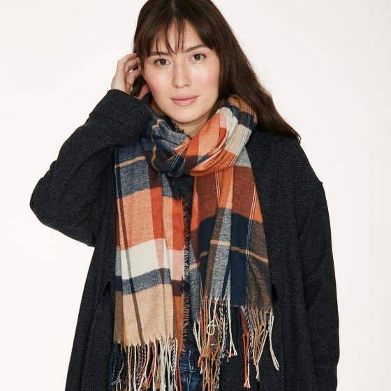 Thought 100% Recycled Spiced Orange Narcissa Scarf in Gift Box
