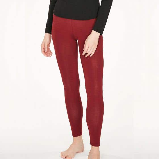 Thought Bamboo Mix Women's Ruby Red Leggings  - Size 10