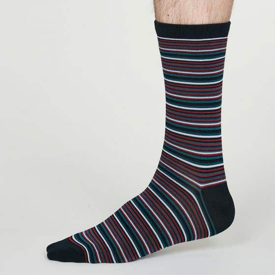 Thought Men's William Bamboo Blend Striped Socks