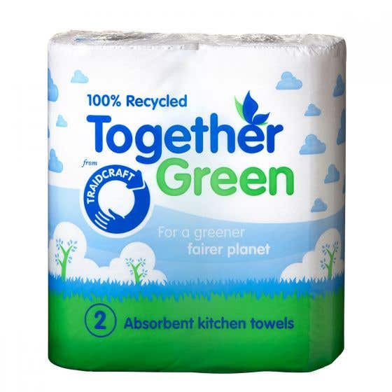 Together Green Recycled Kitchen Roll (2 pack) SINGLE