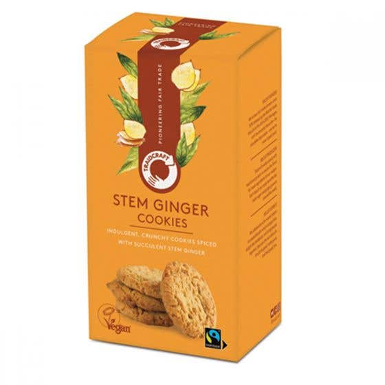 Traidcraft Stem Ginger Cookies (180g) SINGLE