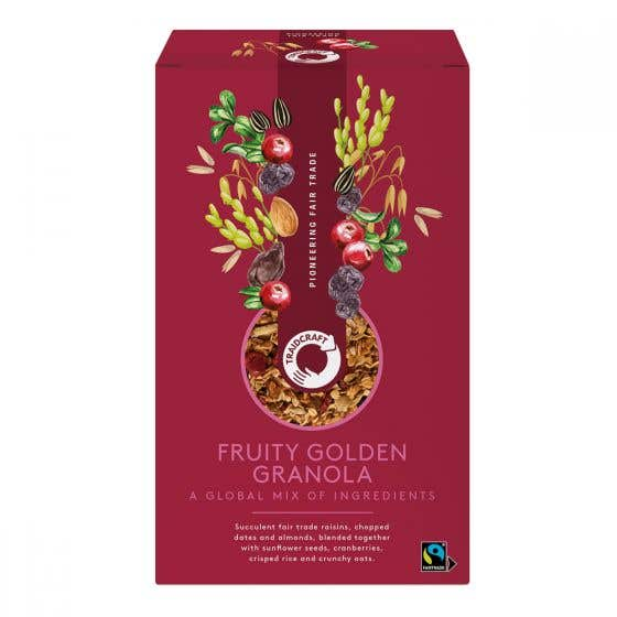 Traidcraft Fruity Golden Granola (6x350g) CASE