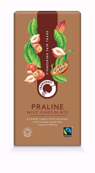 Fairtrade Organic Milk Chocolate with Praline from Traidcraft
