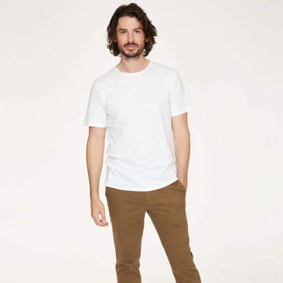 Thought Men's Fairtrade Organic Cotton White T-Shirt - Extra Small