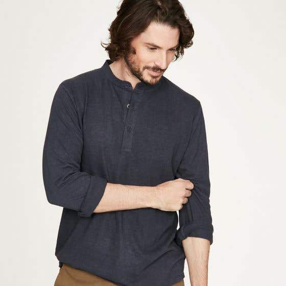 Thought Men's Cristian Denim Top - Extra Small