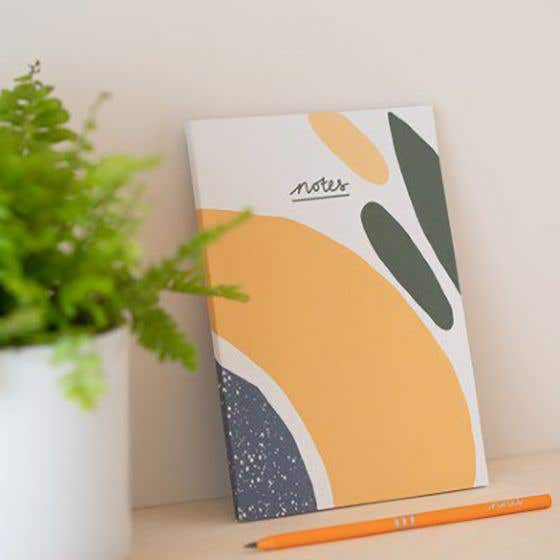 Recycled A5 Olive Notebook with Lined Pages