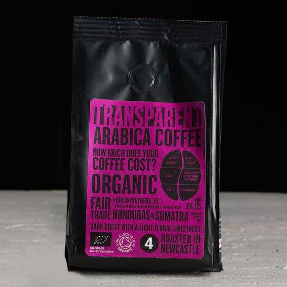 Transparent Honduras and Sumatra Organic Ground Coffee (227g) SINGLE