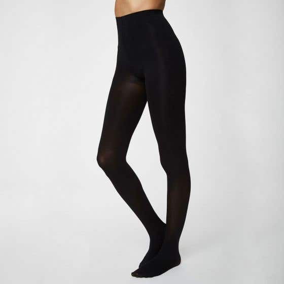 Thought Recycled Nylon Blend Black Tights Sara Tights Extra Large
