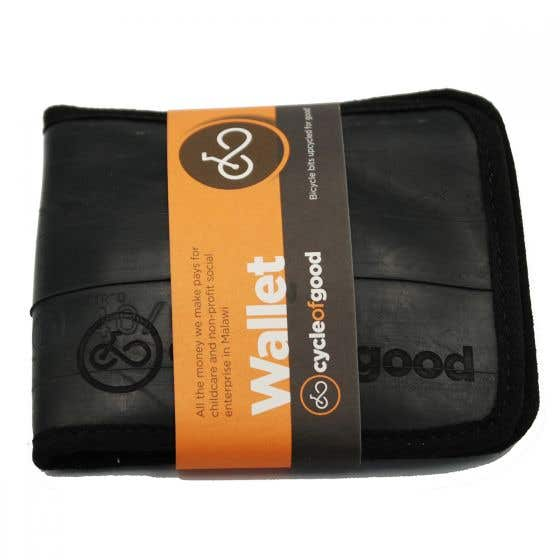 100% Recycled Bicycle Inner Tube Wallet