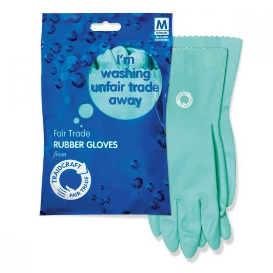 Traidcraft Rubber Gloves Display Box (12 pairs) CASE
