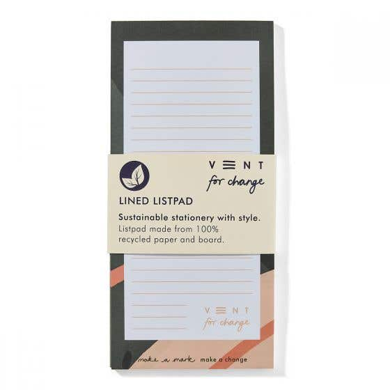 Recycled A5 Green Slim List Pad