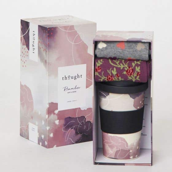 Thought Women's Bamboo Cup and Socks Gift Pack