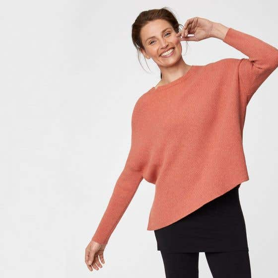 Thought Coral Organic Cotton and Wool Blend Kate Jumper Size 8
