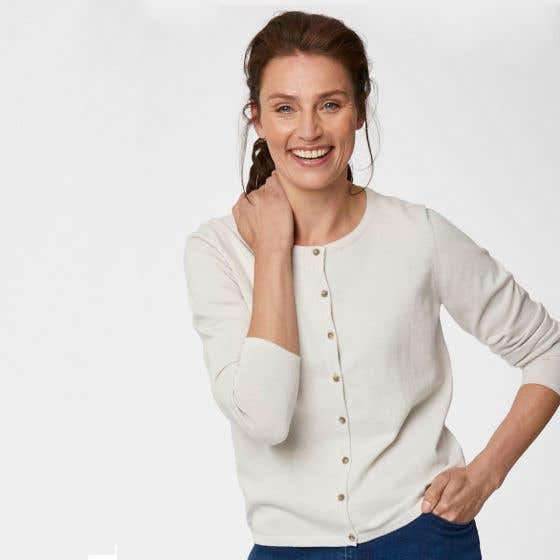 Thought Organic Cotton Bone Bodil Cardigan