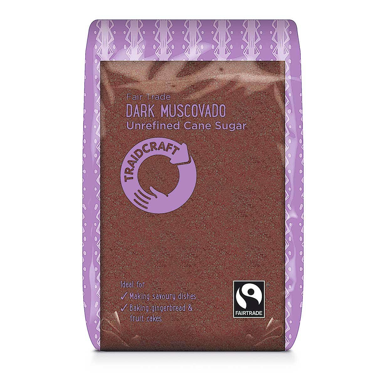 Traidcraft Dark Muscovado Sugar (6x500g) CASE