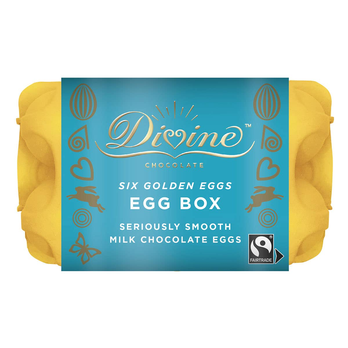 Divine Chocolate Easter Egg Box (120g) SINGLE