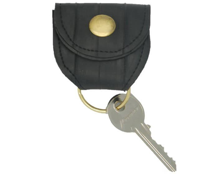 100% Recycled Bicycle Inner Tube Keyring