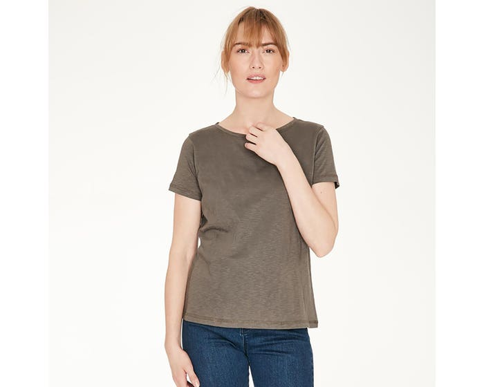 Thought Fairtrade and Organic Cotton Walnut T-Shirt - Size 10