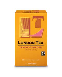 London Tea Company Lemon and Ginger Tea Bags (40g)