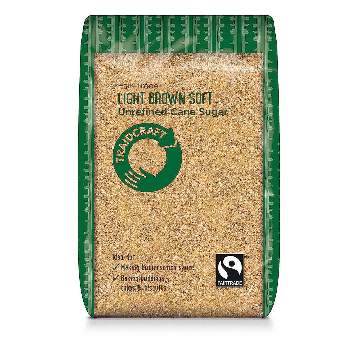 Traidcraft Light Brown Soft Sugar (500g) SINGLE