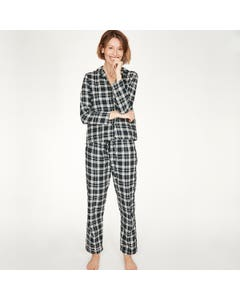 Thought 100% Organic Cotton Check Tehran Pyjama Navy Shirt