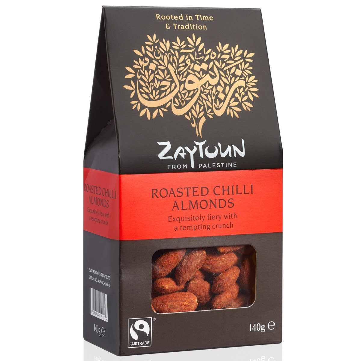 Zaytoun Roasted Chilli Almonds (6x140g) CASE