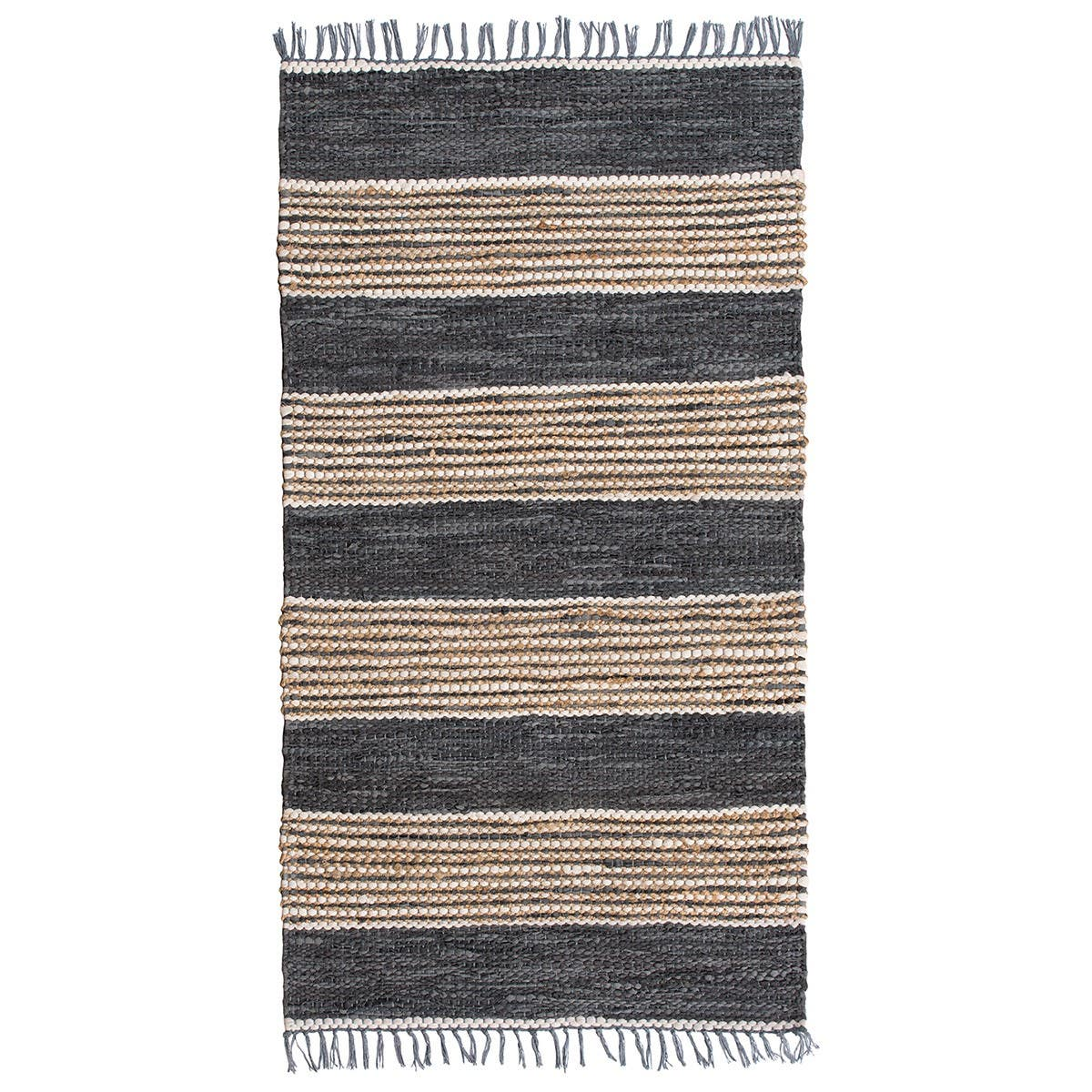 Leather and Jute Rug