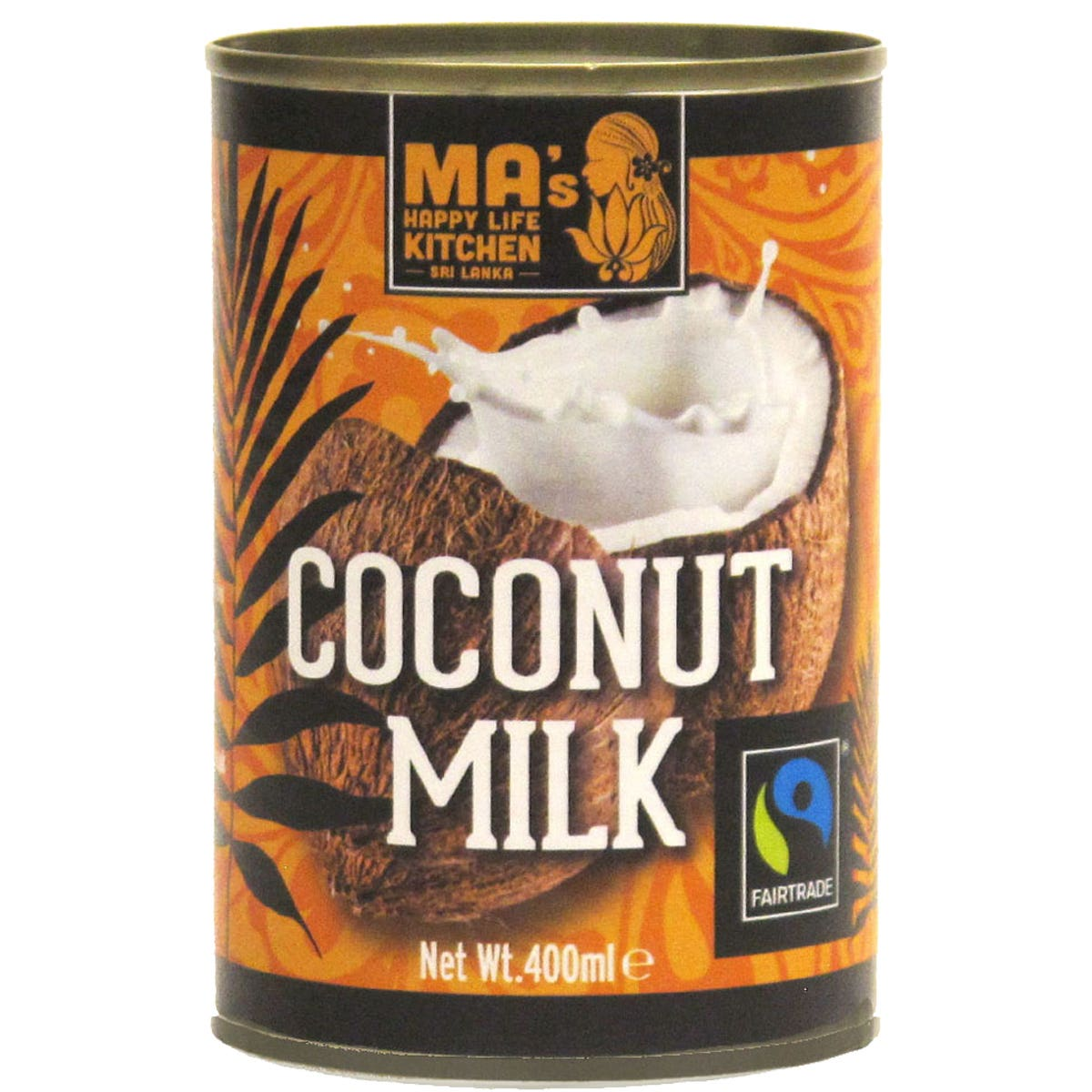 Ma's Happy Life Kitchen Organic Fair Trade Coconut Milk (400ml) SINGLE