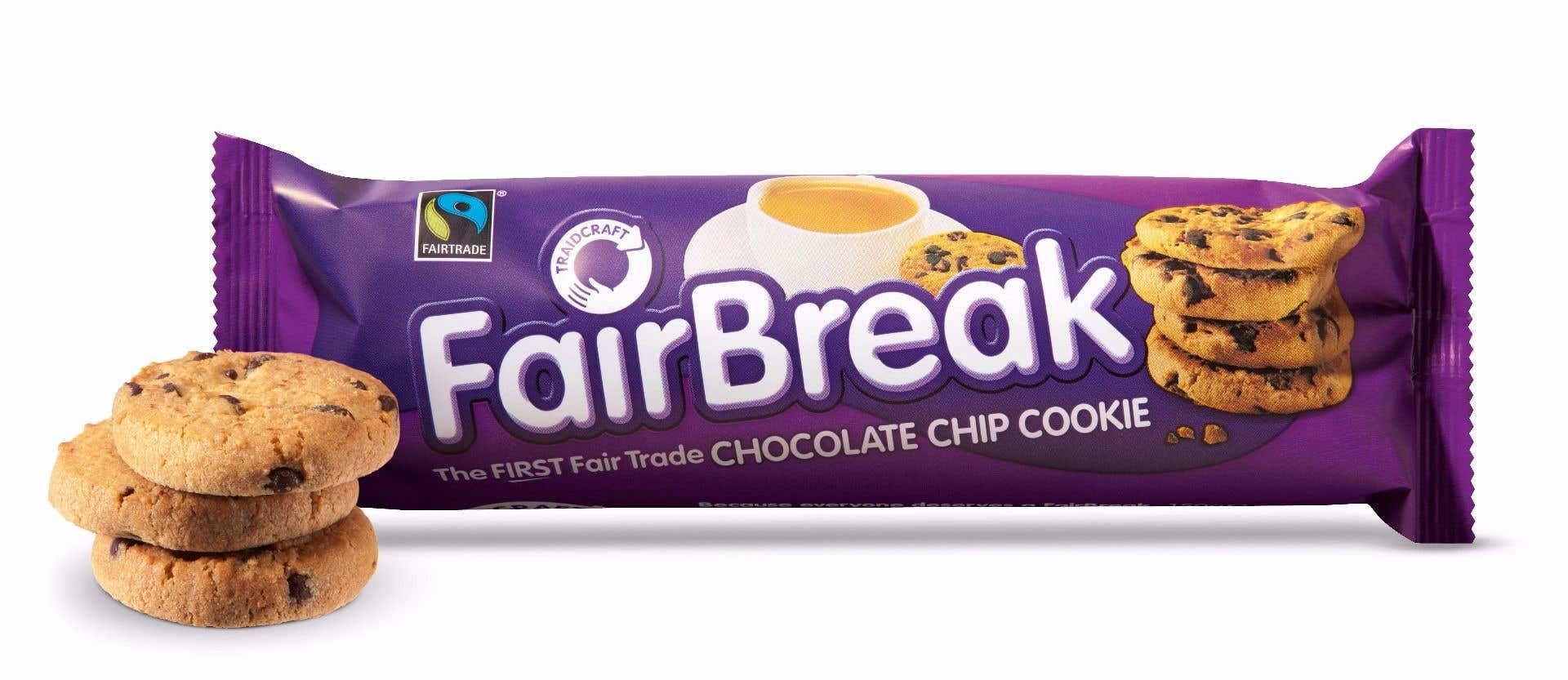 Traidcraft FairBreak Choc Chip Cookies (12x150g) CASE