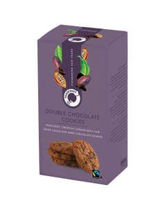 Traidcraft double chocolate chunk cookies, fair trade biscuits, traidcraft biscuits