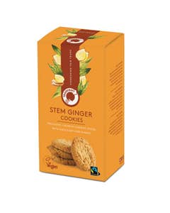 Traidcraft Stem Ginger Cookies, fair trade ginger biscuits
