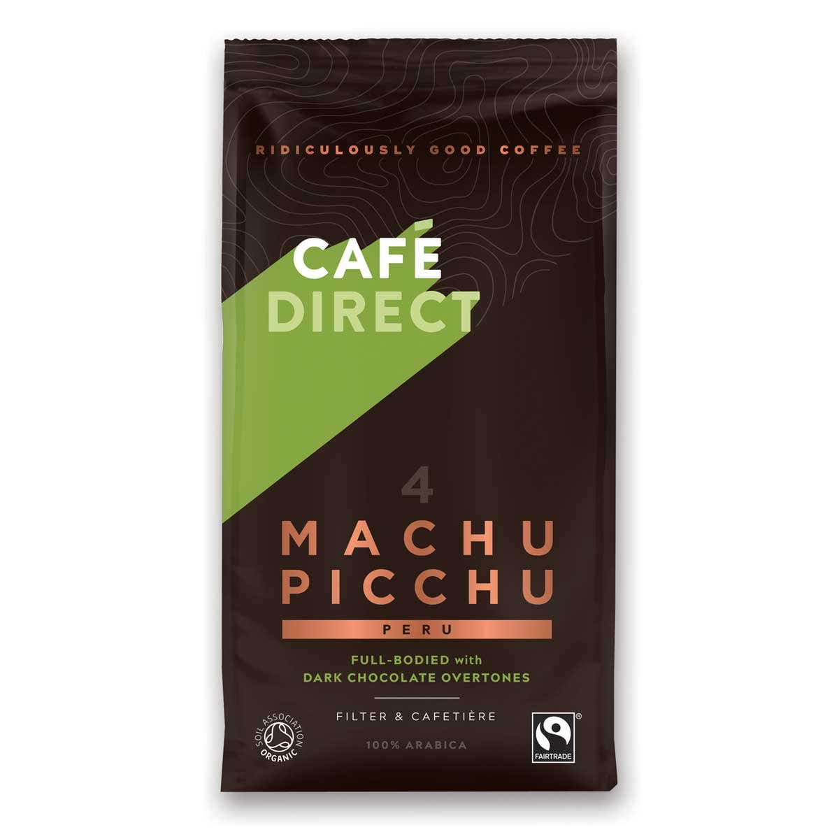 Cafedirect Organic Machu Picchu Ground Coffee (227g)