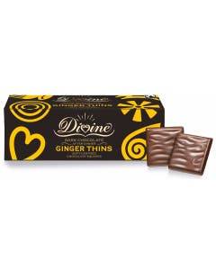 Divine Dark Chocolate Ginger Thins (200g)