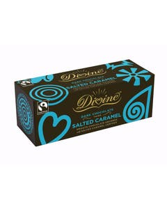 Divine Dark Chocolate Salted Caramel Thins (200g)