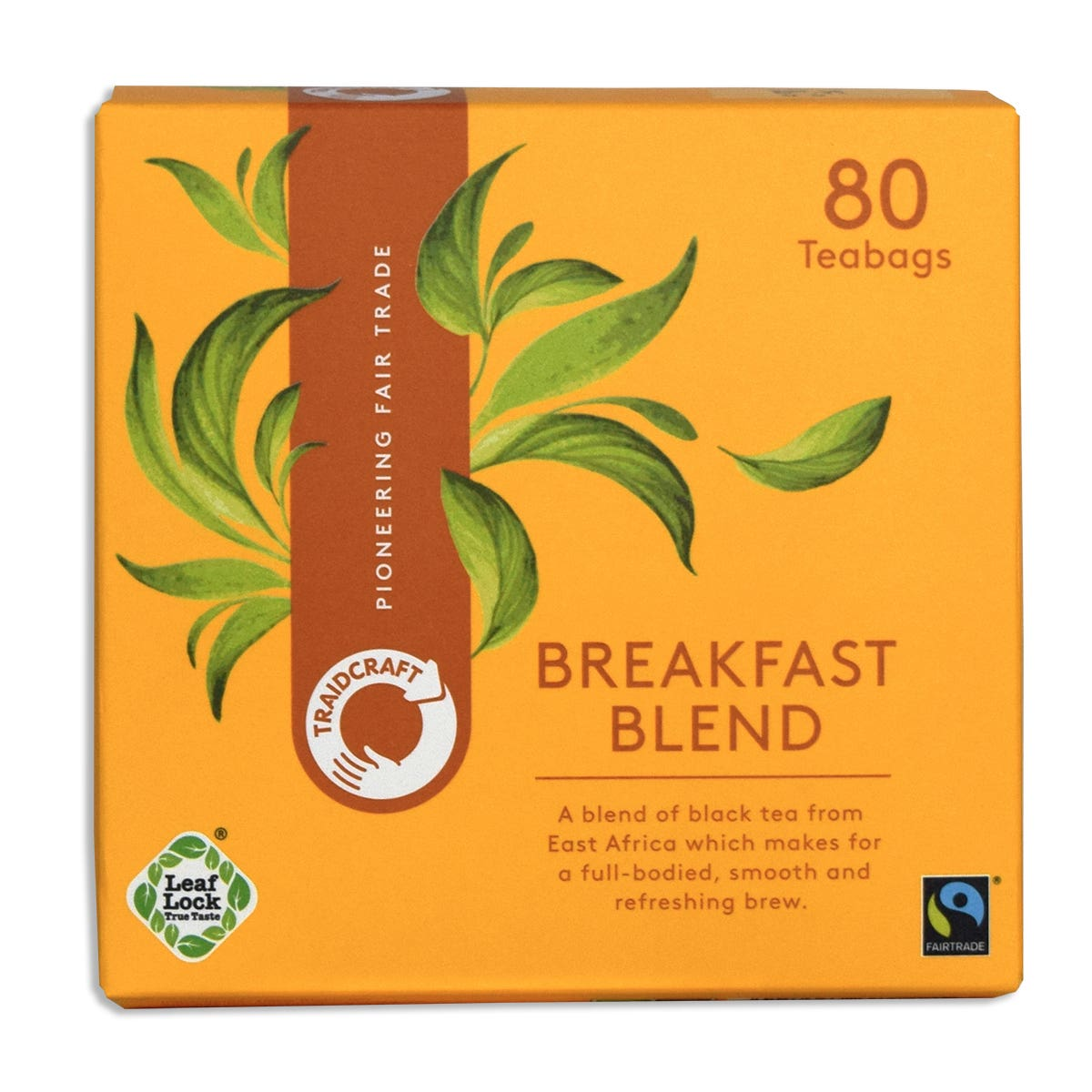 Traidcraft Breakfast Blend Tea Bags (80 bags)