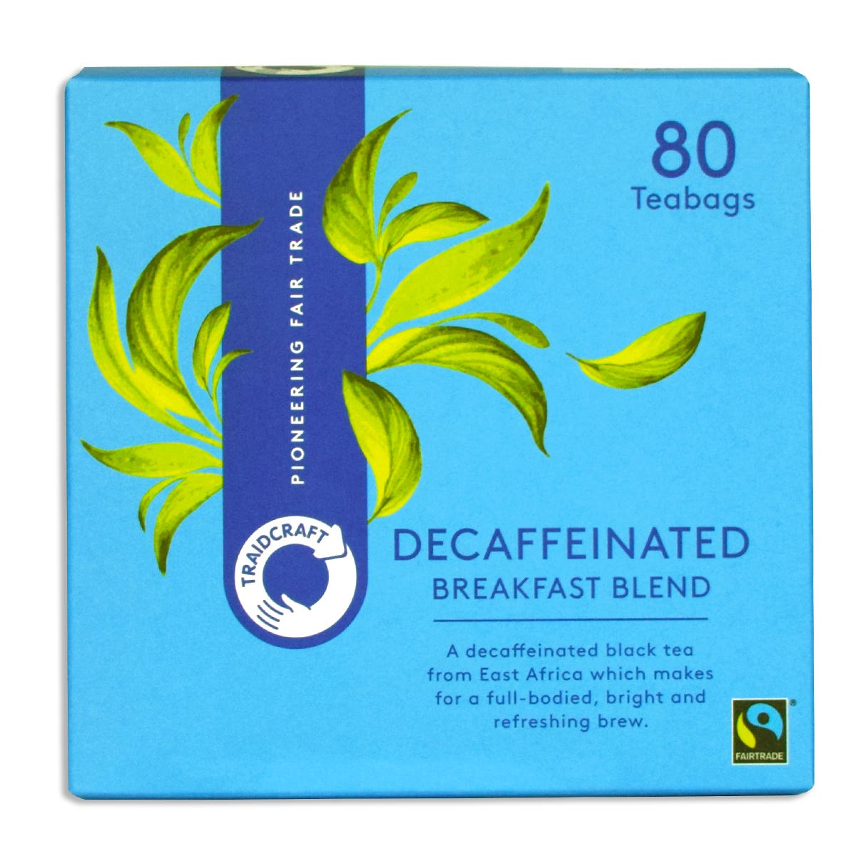 Traidcraft Breakfast Blend Decaffeinated Teabags (6x80 bags) CASE