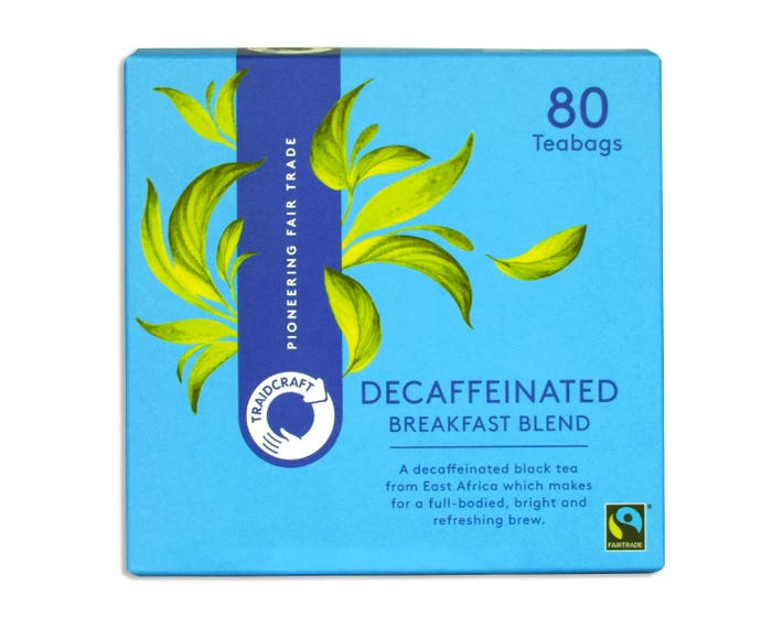Traidcraft Breakfast Blend Decaffeinated Teabags (80 bags) SINGLE