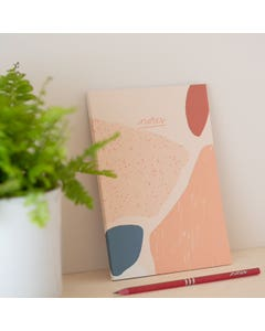 Recycled A5 Coral Notebook with Plain Pages