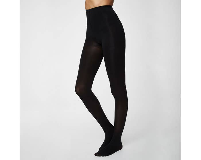 Thought Recycled Nylon Blend Black Sara Tights