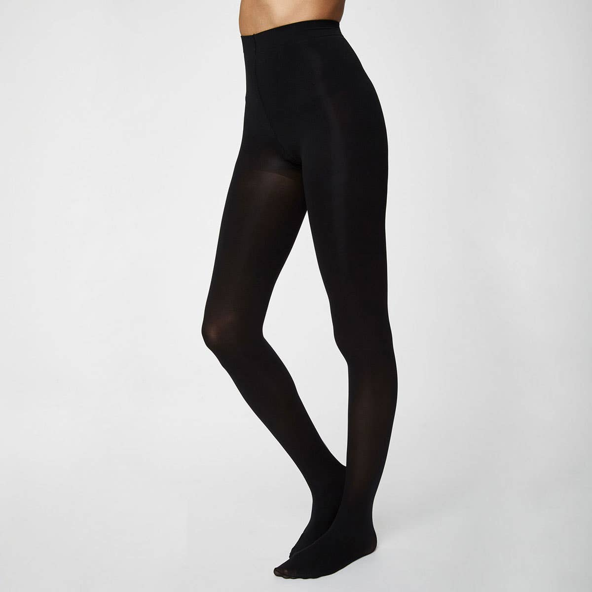 Thought Recycled Nylon Blend Black Sara Tights Small