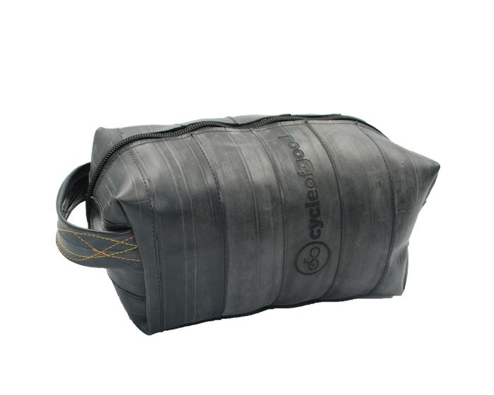 100% Recycled Bicycle Inner Tube Washbag