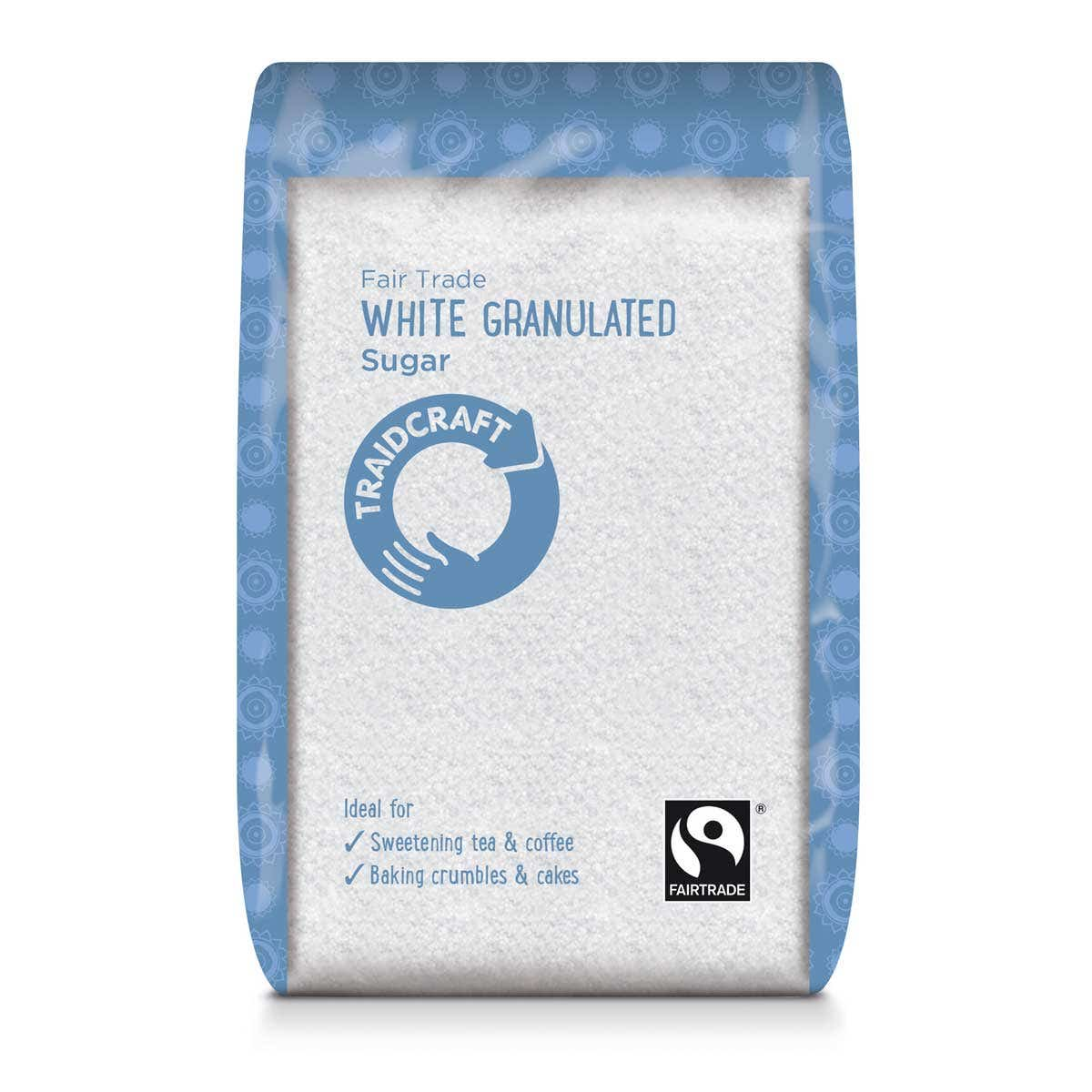 Traidcraft White Granulated Sugar (6x500g) CASE