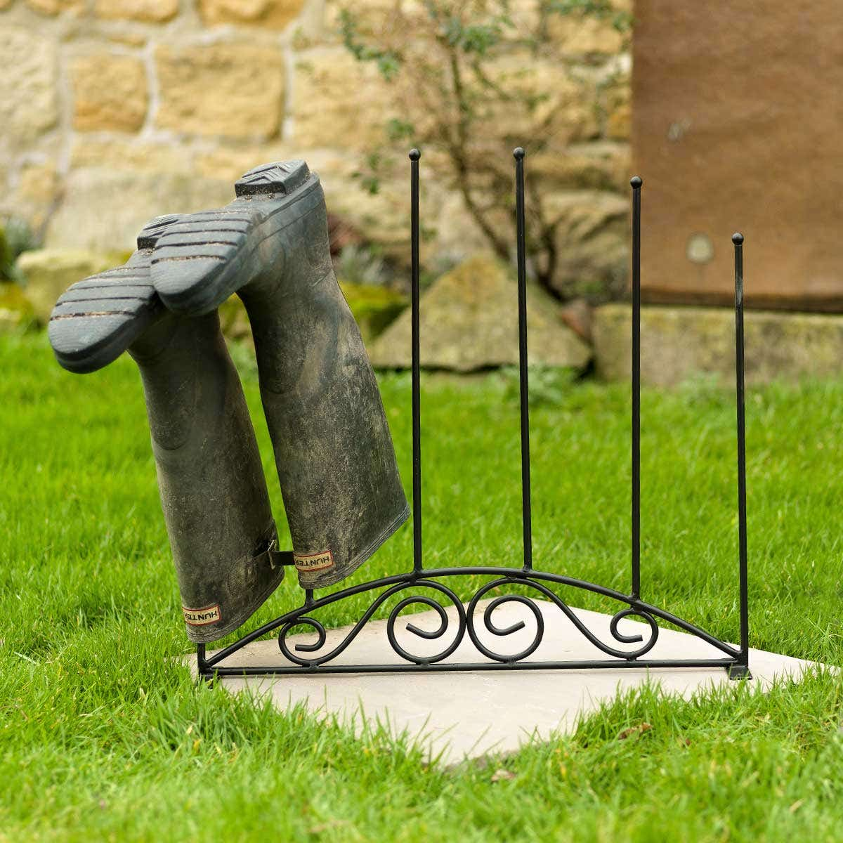 Wrought Iron Boot Holder