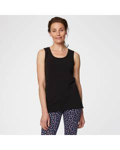 Thought Black Bamboo and Organic Cotton Blend Vest