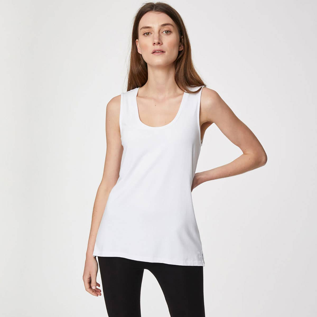 Thought White Bamboo and Organic Cotton Blend Vest